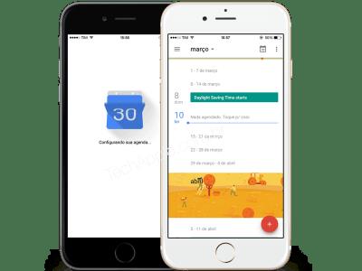 Aplicativo Google Agenda para iPhone/iOS