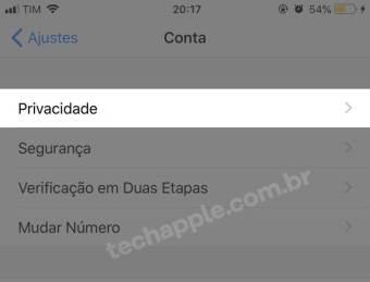 Privacidade - WhatsApp - 21 | TechApple.com.br
