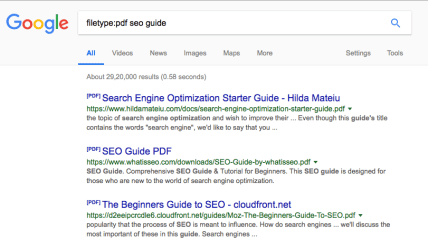 filetype:pdf google search query