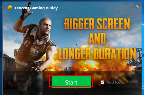 Tencent Emulator Launch Screen