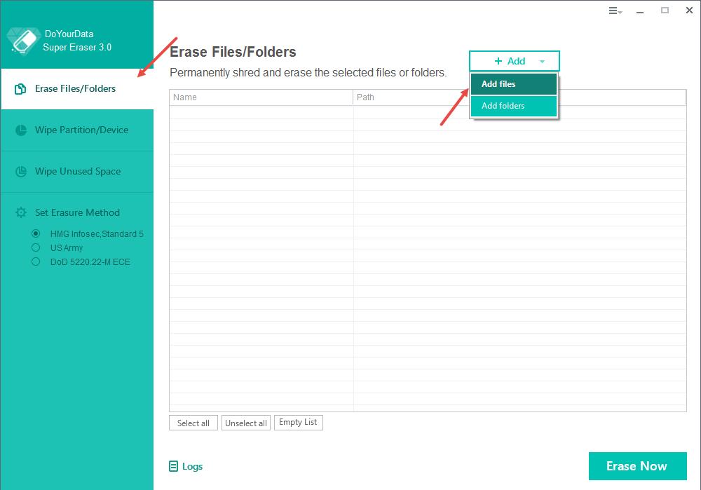 super-eraser-add-files-folders