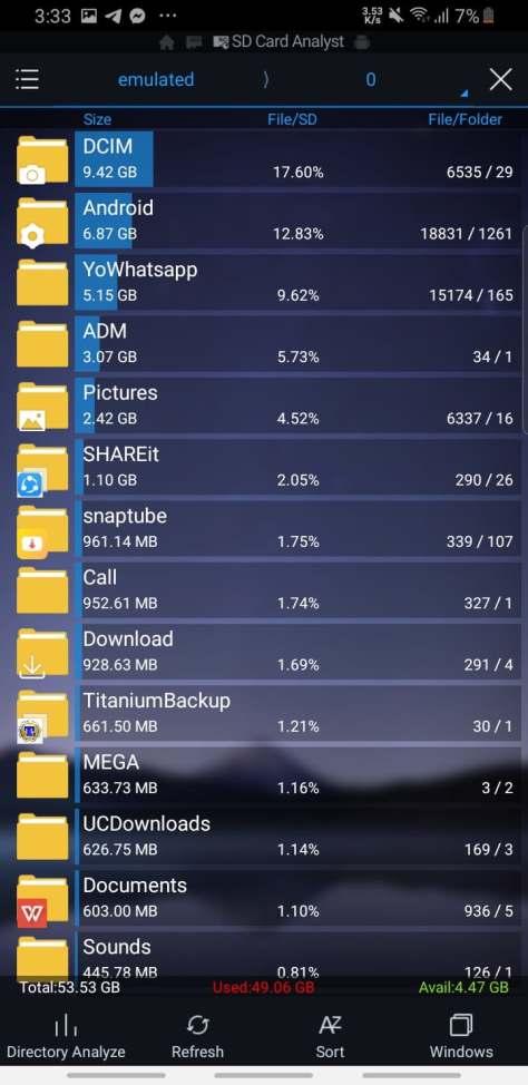 تحرير المساحة الداخلية لهاتف الأندرويد بواسطة تطبيق ES File Explorer Pro