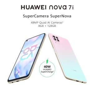 Picture showing Huawei Nova 7i samrtphone