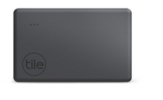 Tile slim is shown in the picture in black color during review of Airtags vs Tile