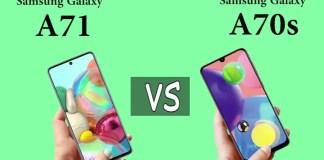 Samsung Galaxy A71 vs Galaxy A70