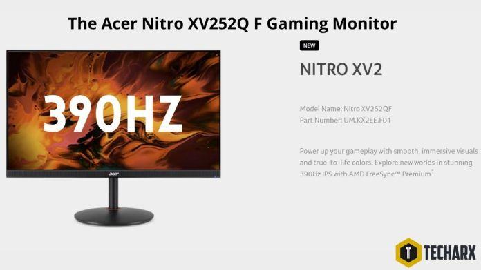 Acer Nitro XV252Q F gaming monitor