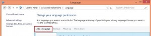 "Click on the ""Add Language"""