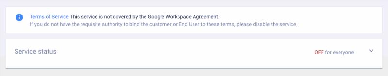 Google Search Console Service Status