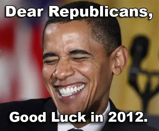 funny barack obama laughing at republicans for 2012 elections
