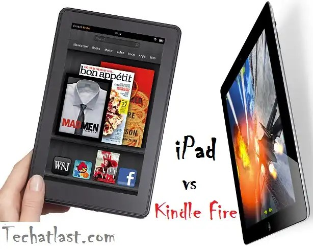 Kindle Fire vs iPad comparison