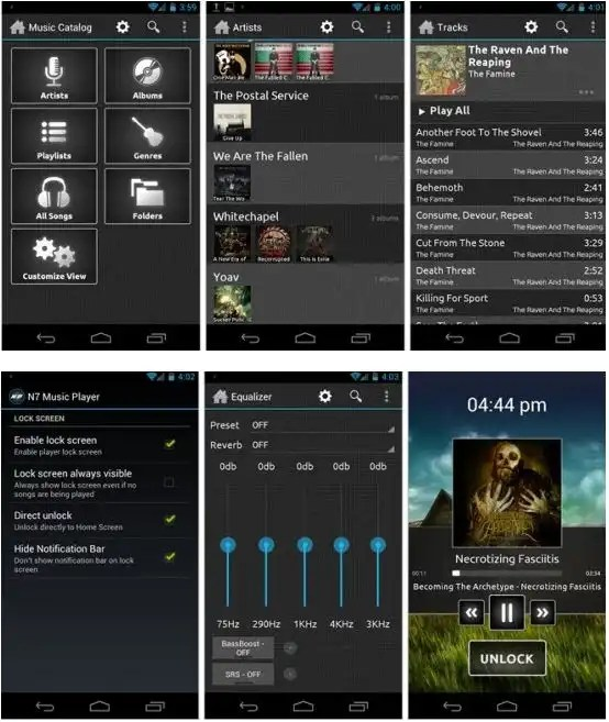 n7 music player for android 2