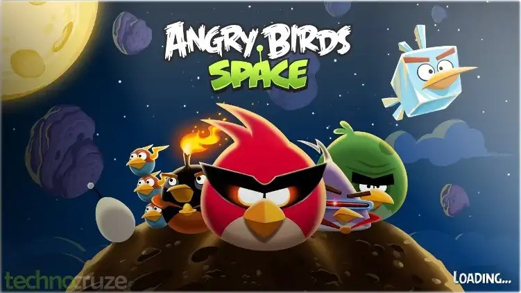 Angry Birds Space loading