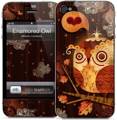 Enamoured Owl skin for iPhone 5