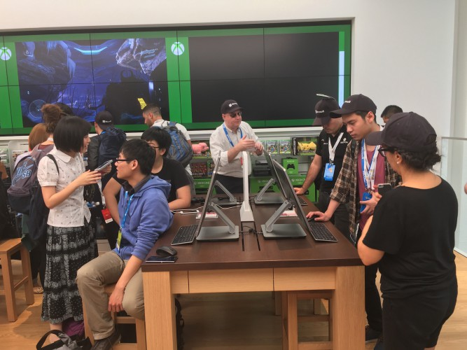 Inside the Microsoft store