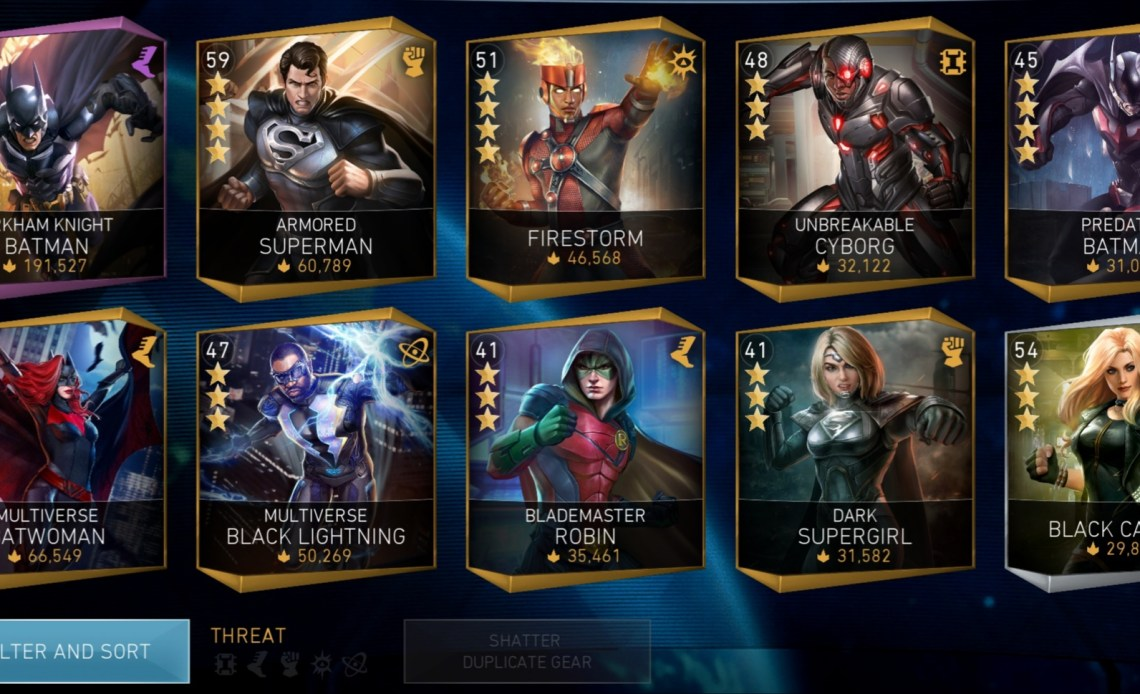 All Character Abbreviations On Injustice 2 Mobile Techavator