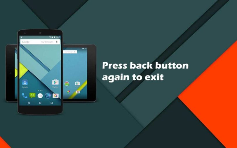 How to add press back button again to quit feature to an android application