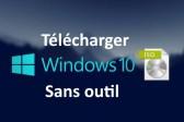 télécharger Windows 10 dernière ISO sans outil