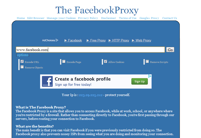 How To Unlock Facebook Using Proxy Sites