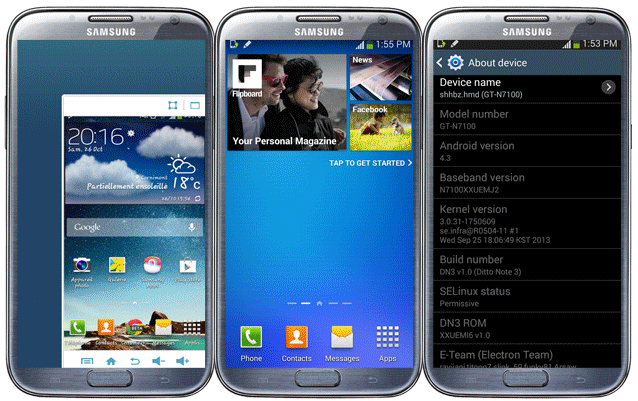 Install Ditto Note 3(DN3) ROM on Galaxy Note 2 and get all