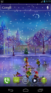 Christmas Rink Live Wallpaper3