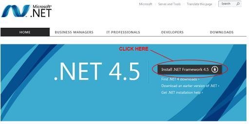 microsoft net 4.5 framework download