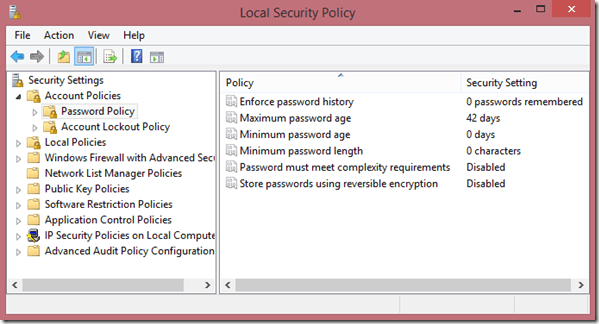 Local-Security-Policy