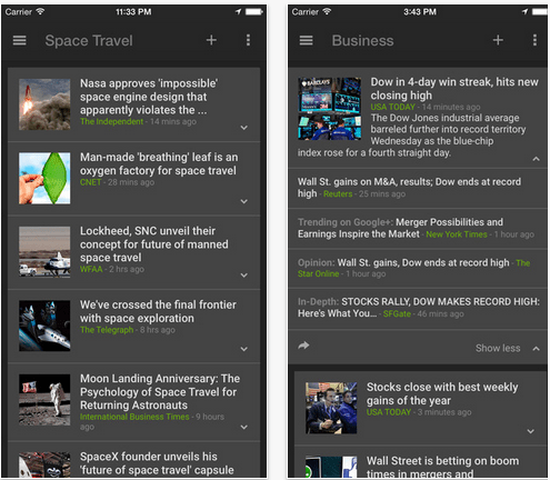 Download Google News & Weather App for iOS 8,7