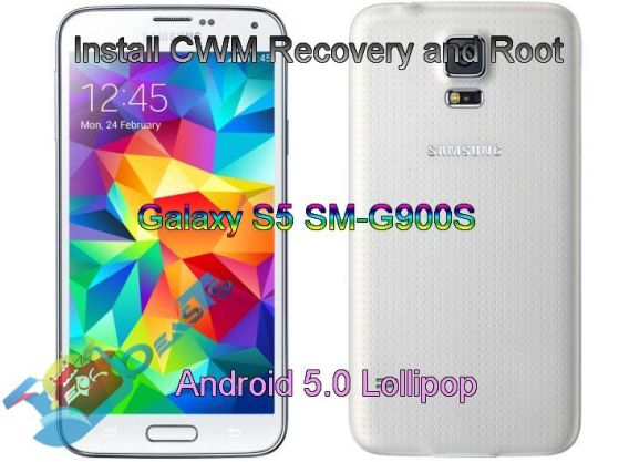 Install CWM Recovery and Root Galaxy S5 SM-G900S on Android 5.0 Lollipop