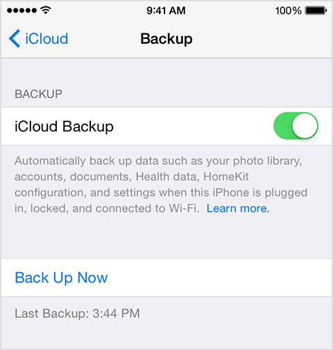 iOS 8 Tutorial Enable iCloud Back-up on iPhoneiPad