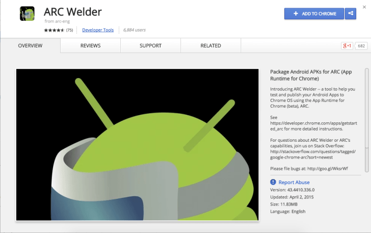 How run Android Apk with ARC Welder