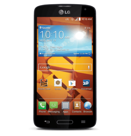 take screenshot with boost mobile LG volt
