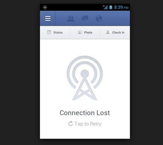 Fix Facebook app Connection lost