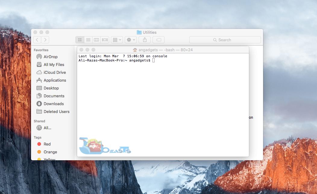 reset forgotten admin password mac osx