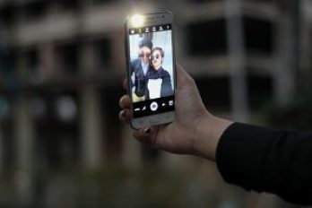 Galaxy J5 front flash selfie