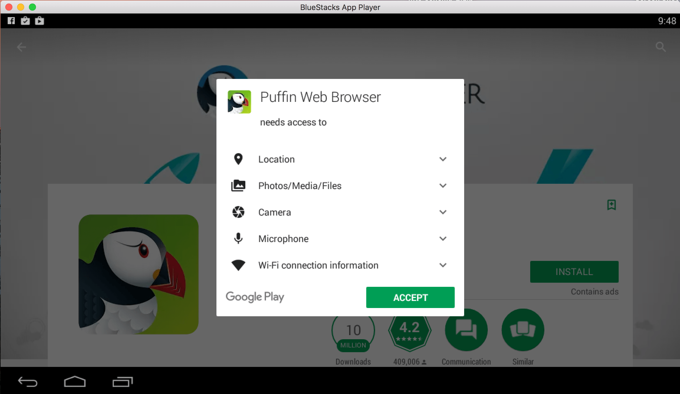 Puffin Browser for PC Laptop / Windows / Mac