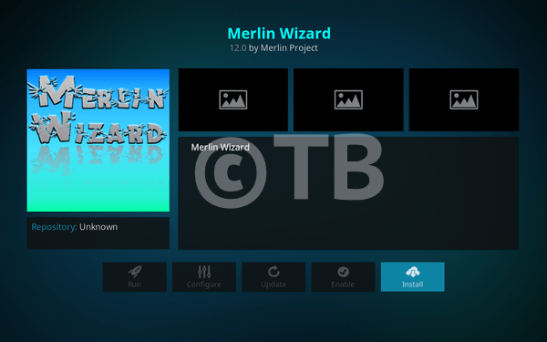 Install Merlin Wizard on Kodi 17.3 Krypton