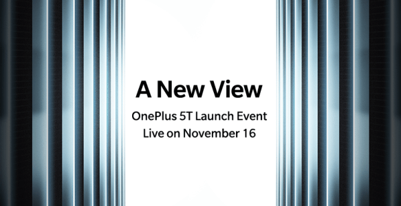 OnePlus 5T all set to get announced on November 16, sales start from November 21