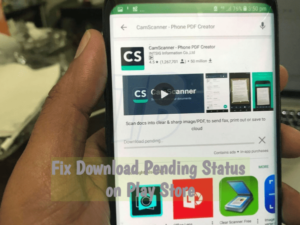 Fix Download Pending Status on Play Store