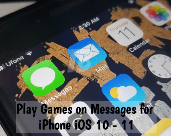 Play Games on Messages for iPhone iOS 10 - 11
