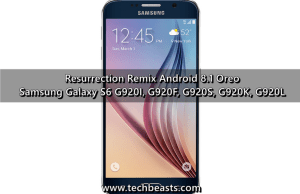update Galaxy S6 to Android Oreo Resurrection Remix