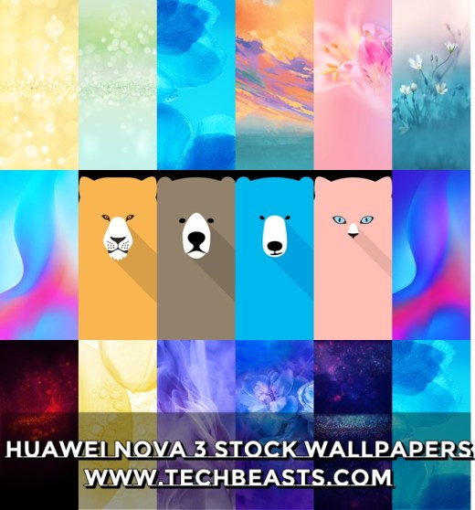 Huawei Nova 3 Stock Wallpapers