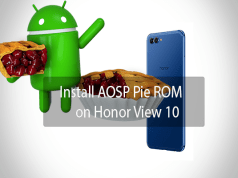 AOSP Pie ROM on Honor View 10