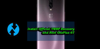 Install Official TWRP Recovery and Root OnePlus 6T