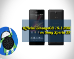 Install Official LineageOS 15.1 ROM on Sony Xperia ZR