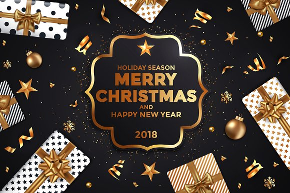 Happy Merry Christmas 2018 Cards