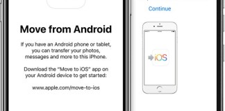 Move to iOS - Move data from Android