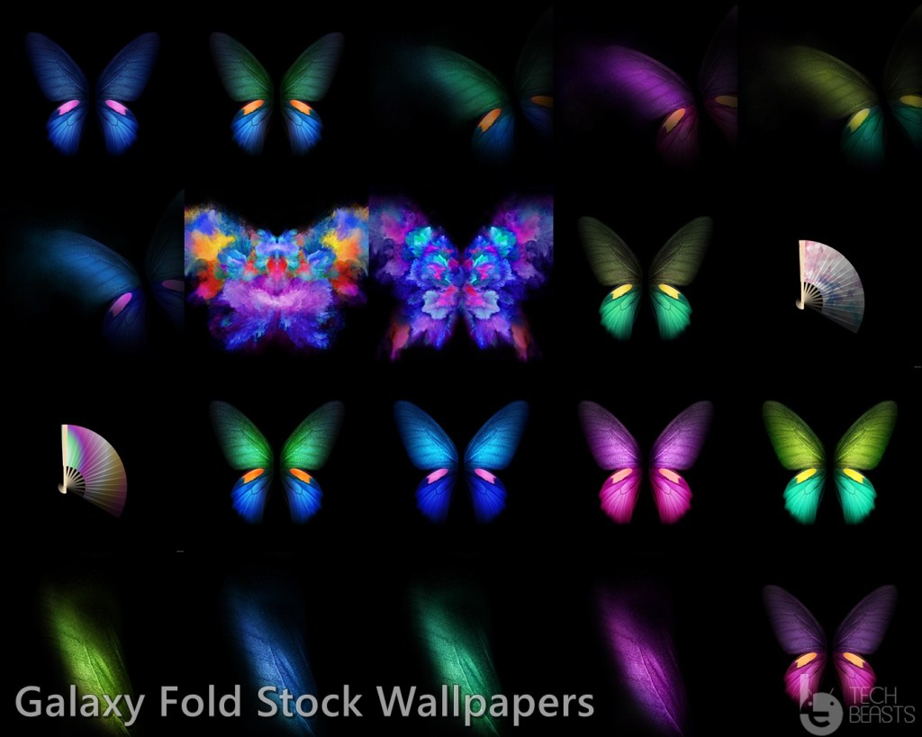 Samsung Galaxy Fold Stock Wallpapers