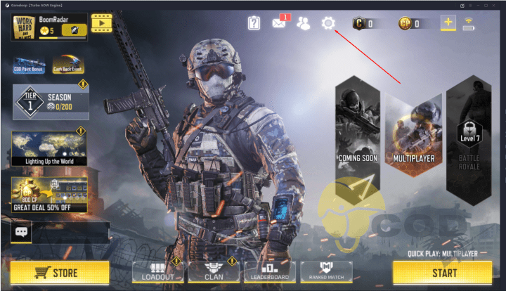 Call of Duty Mobile PC Gameloop Settings