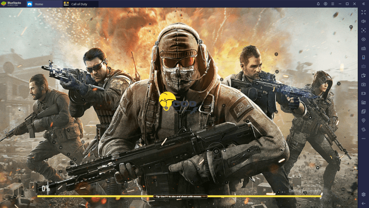 Call of Duty Mobile PC Key Mapping for BlueStacks