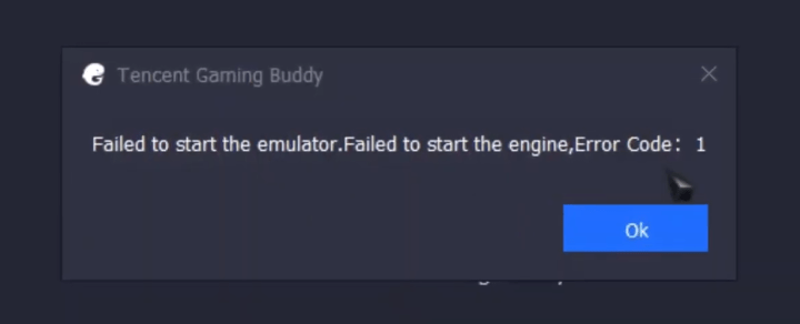 FIX Gameloop Failed to start the emulator. Failed to start the engine, error code :3